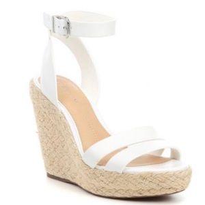 Gianni Bini Leather Wedge Sandals